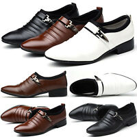 Mens Slip On Dress Tuxedo Loafers Shoes Pointed Formal Wedding Office Business