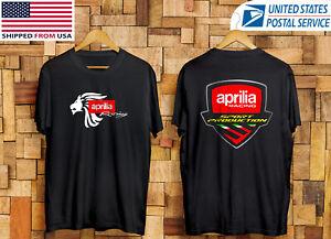 Aprilia Racing Sport Production Two Side Black T-Shirt