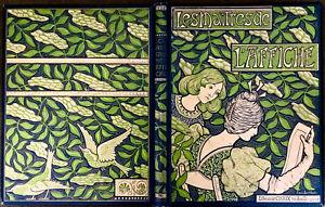 XRARE PAUL BERTHON 1896 ORIGINAL ART NOUVEAU HUGE COVER MAITRES DE L'AFFICHE WOW