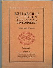 1948 History & Survey of Industrial & Science Research in the deep south; DIETZ