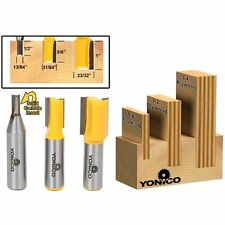 Yonico 14323 Straight 3 Plywood Dado Router Bits for 3/4-Inch 1/2-Inch and Shank