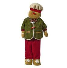"Gingerbread Boy Standing Figure Christmas Window Display Greeter Cookie 28"" Lg"