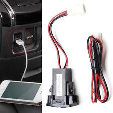 For Honda Dual USB Port LED Socket iPad Mobile Phone Smartphone Car Charger Blue