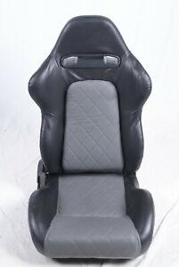 FK-Automotive Bürostuhl Sportsitz Detroit Kunstleder schwarz grau Sitz Stuhl