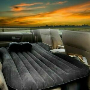 Inflatable Car Air Bed Mattress Back Rear Seat Rest 2 Pillows Travel CampingSUV
