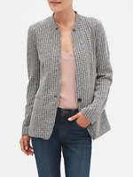 Banana republic -Women's Fitted casual blazer with inverted band collar-#4445