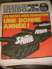Charlie Hebdo N°477 2/01/1980 Caricature Cavanna Wolinski Cabu Charb Russie