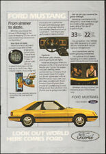Vintage ad for Ford Mustang Yellow t-tops  retro car photo    092717