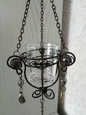 Hängelampe Teelicht Halter Kettenlampe Perlen Romantik Deko Beleuchtung L 83cm