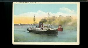S.S. PRINCE ARTHUR, YARMOUTH, NS,  unused post card Canada