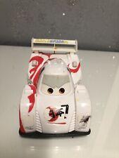 Disney Pixar Cars 2 White Japanese Shu Todoroki Rip/Pull Cord Rev Ups Car