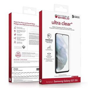 Samsung Galaxy S21 5G Zagg Invisible Shield Clear+ Screen Protector 9H Tough HD