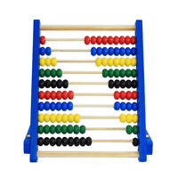 Kids Wooden Bead Abacus Counting Frame Educational Learn Maths Toy 20cm EA7