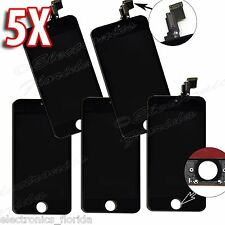 LOT of 5x Black LCD Screen Replacement Digitizer Glass Assembly For iPhone 5C