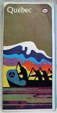 ESSO OIL SERVICE STATION QUEBEC CANADA HIGHWAY ROAD MAP 1966 VINTAGE TRAVEL