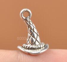 20pcs Tibetan Silver Charms 3D witch hat design pendant 15MM fit bracelet A3306