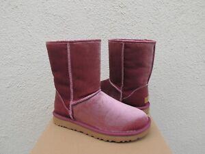 UGG BOUGAINVILLEA CLASSIC SHORT VELVET/ WOOL BOOTS, WOMEN US 7/ EUR 38 ~ NIB