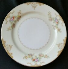 4 MEITO CHINA MARIE BREAD PLATES GOLD TRIM