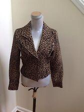 Leopard Print Moto Jacket by Arden B Size M Exc