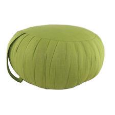 Zafu de méditation/Yoga Cushion with Carrying Handle-Green