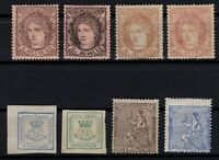 P135041/ SPAIN STAMPS – YEARS 1870 - 1873 MINT MH CLASSIC LOT – CV 171 $