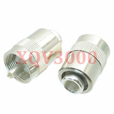 2pcs Connector PL259 UHF male plug pin solder for RG5 RG6 LMR300 RG304 COAXIAL