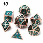 Metal Dice Dnd Dices Set Rpg Polyhedral Solid Dungeons And Dragon Table Games