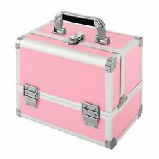 Makeup Train Case, Professional Cosmetic Case 10'' Makeup Storage Organizer Box