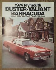 PLYMOUTH DUSTER VALIANT BARRACUDA orig 1974 USA Mkt Sales Brochure - 360 Scamp