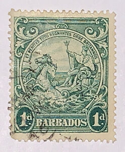 Travelstamps: Barbados Stamps Scott #194A 'Seal of Barbados' Used NG