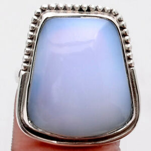 Natural Chalcedony 925 Sterling Silver Ring s.7 Jewelry 5845