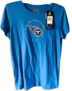 "UNDER  ARMOUR NFL Combine Tennessee Titans Women""s T-Shirt Blue (MEDIUM)"