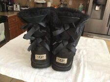 UGG Australia Womens Bailey Bow Black Boots Size 6