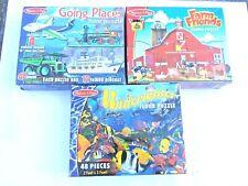 Lot Of 3 Melissa and Doug Puzzles Large Size (Bundle)