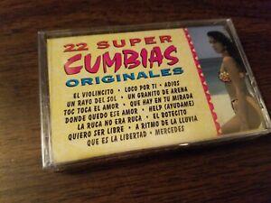 22 Super Cumbias Originales Cassette Tape NEW SEALED !!
