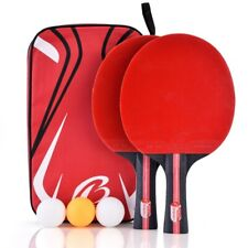 Table Tennis Professional Ping Pong Racket Paddle Bat 3pcs Balls Bag Set USA