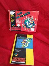 Boîte et notice jeu super Nintendo super Mario world