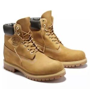 Timberland Men's 6 inch premium Boot Wheat Nubuck 010061713 Size 10 Waterproof