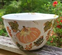 """Harvest by Artimino Tuscan Countryside Pumpkins Large Serving Bowl 9"""" Autumn"""
