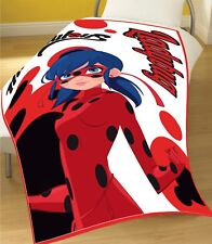 Miraculous Lady Bug Fleece Blanket Manta Polar Bed Bedroom Throw Over Childrens