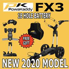 Nuevo Powakaddy Carro De Golf Eléctrico FX3 18 Agujero Litio Blanco + Regalo Gratis
