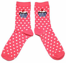 LADIES CUTE AS A CUPCAKE CAKE WITH BUTTON CHERRY ON THE TOP SOCKS ONE SIZE  BNWT