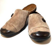 Natural Soul by Naturalizer Tan Suede Mule Slip On Women's Slide Shoe Size 7.5M