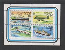 Solomon Inseln - 1980,London '80 Ausst. Schiffe / Flugzeug Blatt - MNH - Sg