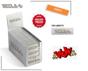 5000 CARTINE CORTE RIZLA ARGENTO SILVER  GRIGIO Box 100 LIBRETTI DA 50 Cartine