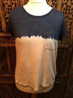 Laura Ashley Linen Tie Dye Top Size 14
