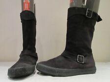 DIESEL BLACK SUEDE PULL ON BOOTS UK 6 EU 39 (3456)