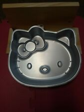 Wilton Hello Kitty Cake Pan Mold #2105~7575 2010 shiny grey.