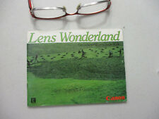 Canon Lens Wonderland FD Lens Guide Book Vintage Camera Accessory Catalog 1980s