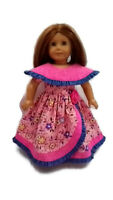 "Ruffle Party Dress Gown fits American Girl 18"" doll clothes Handmade"